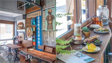 來「廢墟」吃早午餐!大稻埕咖啡廳舊門板拼出新風味