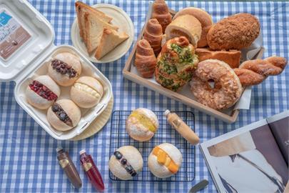 竹北美食 思源麵包|流傳36年的好味道,招牌「噗啾雪球」7種口味爆漿必吃!