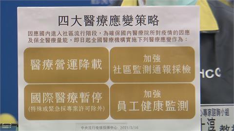 快新聞/指揮中心宣布4大醫療應變策略 「非急迫性診療」暫緩