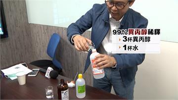 買不到酒精好焦慮?異丙醇加水稀釋也可消毒