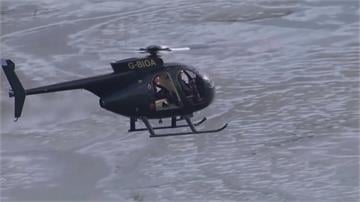 英國「飛魚」搏命挑戰搭直升機自40公尺高跳海