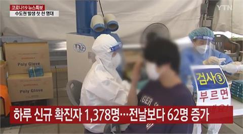 南韓單日新增確診達1378例 連三天創新高