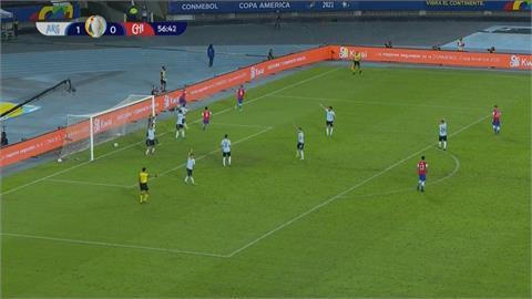 足球/美洲盃足賽梅西首亮相 阿根廷1:1被智利逼和