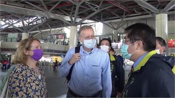 AIT處長現身台南巧遇市長 黃偉哲幽默稱:記得點「全糖去冰」