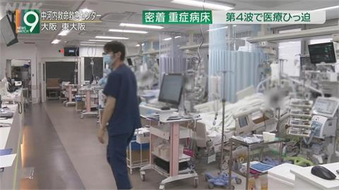 日本將三度發布緊急事態 大阪醫療緊繃僅有12%患者可入院治療