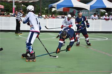 全民運溜冰曲棍球 高雄男女長桿曲棍球雙料冠軍 臺南短桿曲棍球四連霸