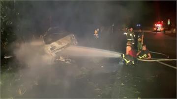 疑超速失控!台東「公主道」火燒車釀兩死