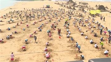 310人同時創作「瓶鼻海豚」!福隆沙雕藝術季創金氏世界紀錄