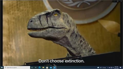 聯合國大會短片「恐龍現身」 籲人類對抗氣候變遷  第26屆聯合國氣候峰會