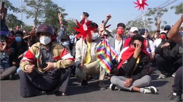 緬甸抗議升溫!警突襲翁山蘇姬政黨總部 傳女示威者中彈腦死