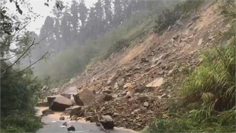 暴雨重創阿里山 青年活動中心路斷逾10人受困