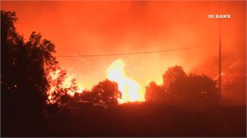 美國加州再竄野火  已燒掉一內湖區面積強風 氣候乾燥 野火季持續燒到12月