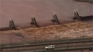 美奧克拉荷馬市連日暴雨 街道淹水、捷運關閉