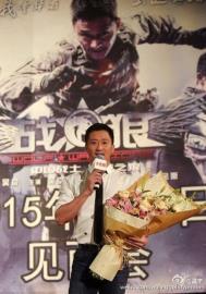 中國影星「戰狼」吳京用iphone發文 網民怒:為什麼不用華為?