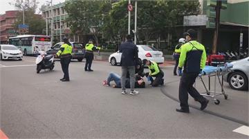 員警值勤遭車輛撞傷 臉部掛彩縫10針林智堅第一時間前往慰問