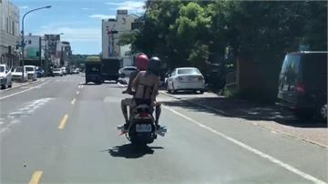 陽光沙灘比基尼!國境之南辣妹「秀美背」騎車網暴動