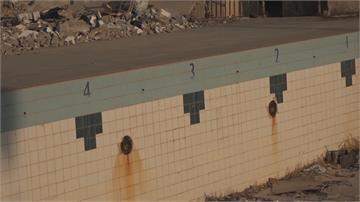利比亞游泳池年久失修如廢墟...選手被迫入海訓練