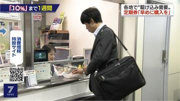 十月起消費稅將調漲 日民眾搶買家電、月票