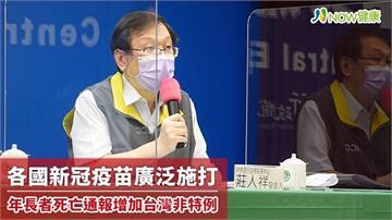各國新冠疫苗廣泛施打 年長者死亡通報增加台灣非特例