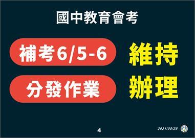 快新聞/全國停課到端午節! 潘文忠:國中會考補考維持6/5-6辦理