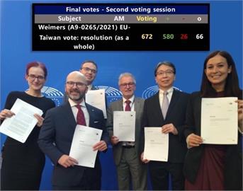 快新聞/歐台政治合作報告580:26高票通過 歐洲議員:台灣是貿易、民主的夥伴