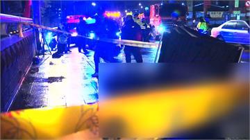 載妻擦撞人行道路緣摔車騎士遭公車追撞卡車底不治