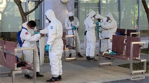 快新聞/防堵疫情延燒!「華航園區大消毒」出動清潔稽查大隊、國軍化學兵