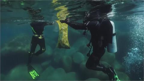 尋回美麗太浩湖 水肺潛水隊清湖底垃圾