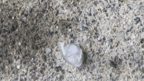 午後冰雹雨突襲! 苗栗卓蘭.台南東山民眾驚又喜