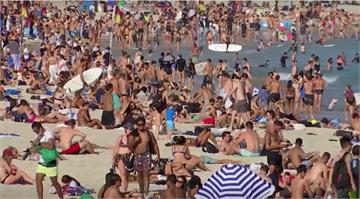 無視隔離禁令 澳洲邦代海灘擠滿民眾曬太陽