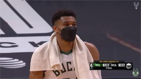 NBA/安特托昆博季後賽首奪大三元 公鹿橫掃熱火晉級
