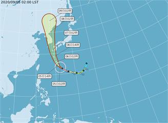 快新聞/強烈颱風海神朝日韓方向前進 北部、東半部留意較強陣風及長浪