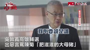 吳敦義罵菊「肥滋滋豬母」 總統:糟蹋台灣人的言論自由
