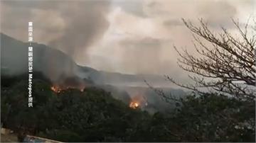 蘭嶼火燒山火勢猛烈 警消馳援幸無人傷亡