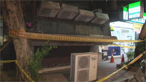 遮雨棚不堪負重崩塌 冷氣室外機掉落險傷人