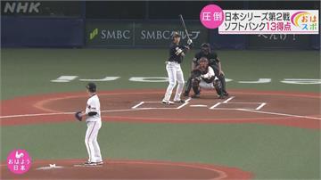 日本職棒大賽連輸兩場 央聯王者巨人慘到破紀錄