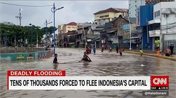 印尼雅加達暴雨成災!逾30死、6萬人無家可歸