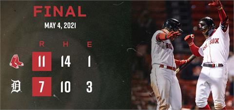 MLB/紅襪棒打老虎 4轟賞對手6連敗
