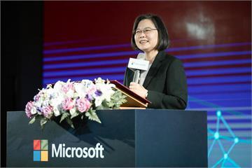 快新聞/微軟宣布「投資台灣新計畫」 蔡英文:強化台美雙方合作力道