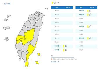 快訊/輕颱鸚鵡外圍影響!6縣市大雨特報