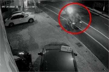 遮蔽車牌飛車搶包 這頂安全帽成破案關鍵