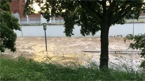 德國西部暴雨成災洪水狂奔 至少1死4傷