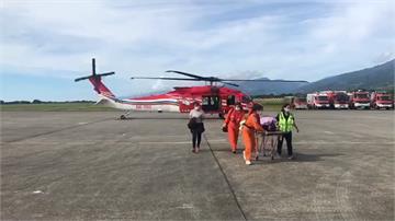綠島老翁腦中風蘭嶼男潛水受困 空勤出動直升機一日雙島救援