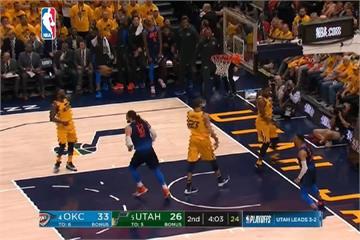 NBA季後賽首輪 爵士淘汰雷霆晉級