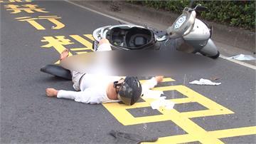 男酒駕撞飛騎士肇逃 目擊民眾包抄揪出肇事者