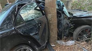 彰化139縣道路樹難生存!百萬轎車失控自撞「鐵包樹」