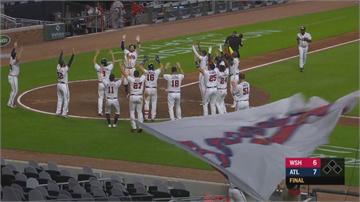 MLB/勇士無懼!迎戰衛冕軍國民隊  九局下驚奇兩轟登國聯東龍頭