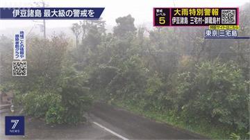 颱風昌鴻大迴轉 關東狂風暴雨土石坍塌