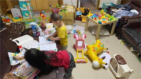 停課到暑假!2寶爸曬「家中慘況」崩潰喊:客廳變垃圾堆