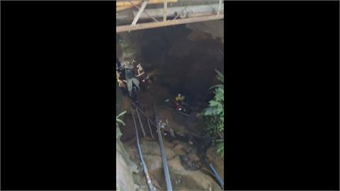三峽涵洞施工石塊掉落壓3工人 1人無生命跡象